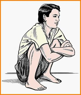Deep squat for resting