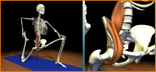 Psoas stretch with details