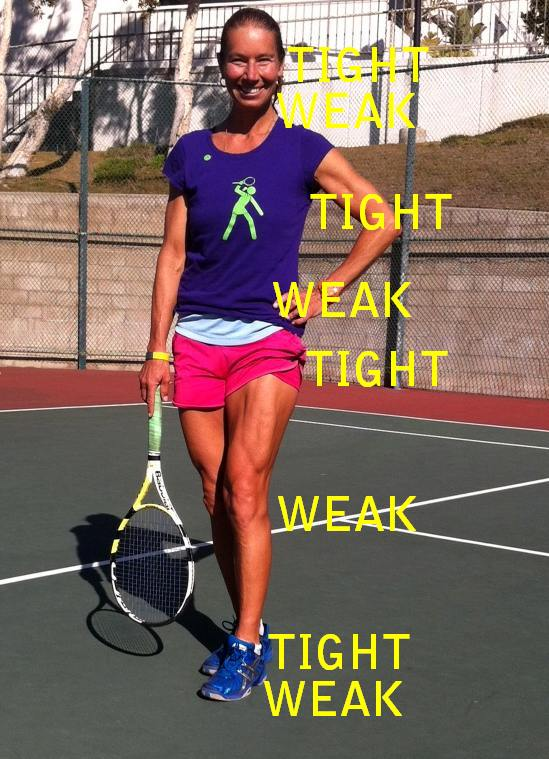 Weak - tight segments of the kinetic chain