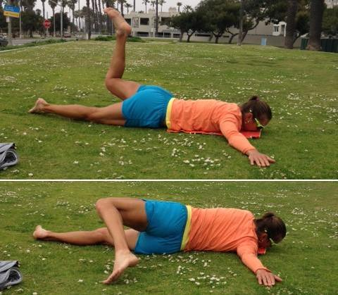 Scorpion exercise to relieve your tight back