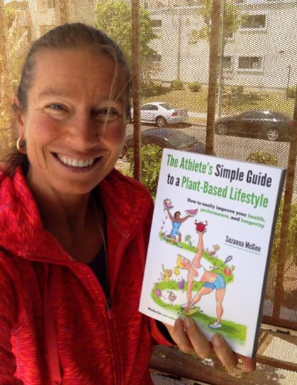 Suzanna with The Athlete's Simple Guide to a Plant-Based Lifestyle