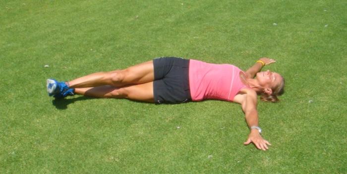 Align hips with straight-leg hip twist