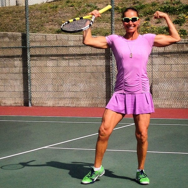 raw vegan tennis player athlete on the court