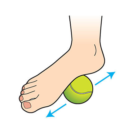 tennis ball foot massage for tight hamstrings