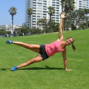 strong core with a Side Plank with Leg Lift