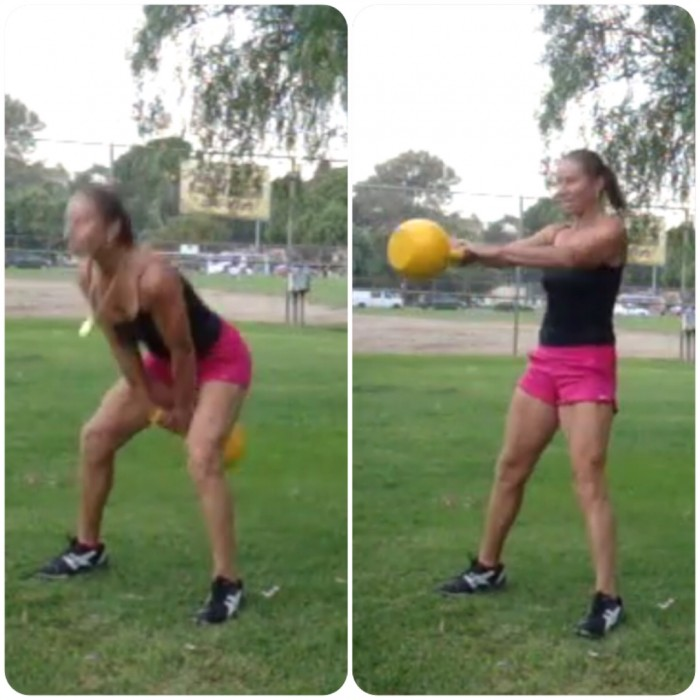 Strengthen your glutes with kettlebell swing